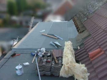 Felting the roof