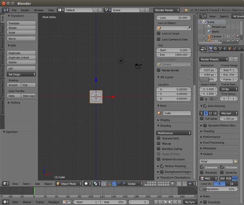 Blender Default Screen