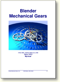 Blender Mechanical Gears Manual