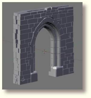 Arch with Remaining Wall