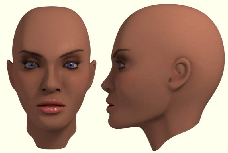 1st Face Render