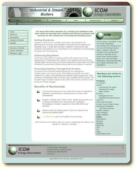 ICOM Energy Association Web design