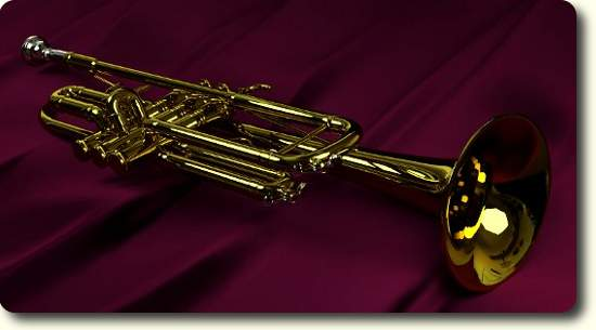 Trumpet rendered in Cycles