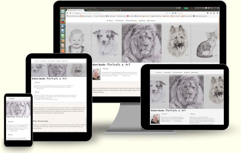 Robert Burke Portraits and Art - Responsive website