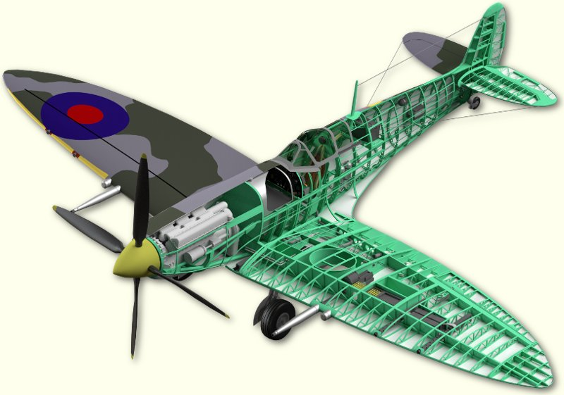 Spitfire Mk 9 Cutaway Work in Progress