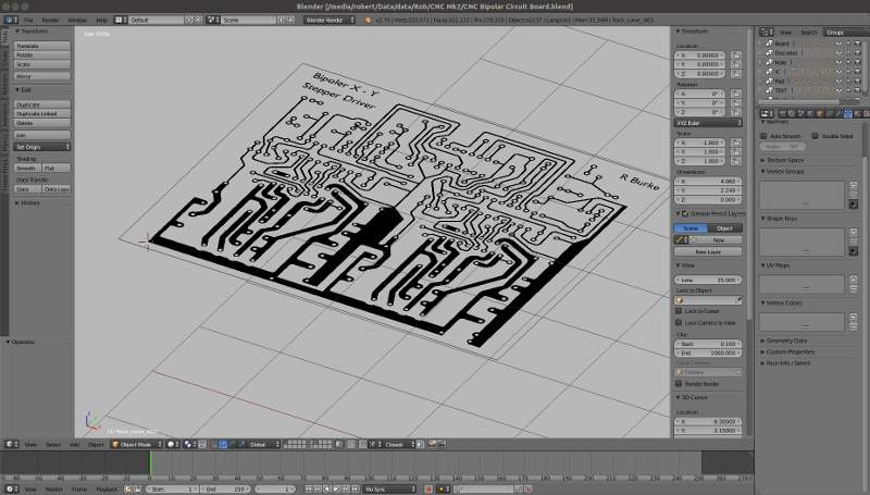 Printed Circuit Board Layout for 2 Bipolar Stepper Motor Drivers.